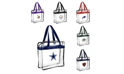 Forever Collectibles NFL Clear Messenger Tote Bags