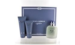 D & G LIGHT BLUE by Dolce & Gabbana 3 PIECE GIFT SET - 4.2 OZ EAU DE TOILETTE