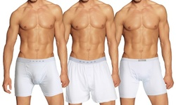 3-Pack Galaxy By Harvic Men's Tagless Boxer Briefs (S-2XL)