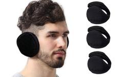 Winter Ear Warmers Behind the Head Style Fleece Ear Muffs