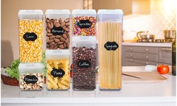 Food Organizer, 28pc Airtight Food Storage Container with Re-Writable Labels