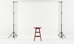 iMounTEK Photo/Video Studio Backdrop, Background Stand, Adjustable, 6.5' x 10'