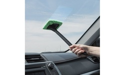 Windshield Cleaner Wiper with Microfiber Cloth (2 Pack)