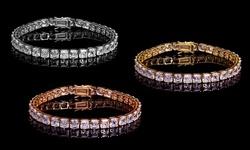 Lesa Michele 42.00 CTTW Tennis Bracelet Made with Swarovski Crystals