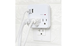 Multi Outlet Wall Adapter Surge Protector with 2 USB Ports (2 Pack)