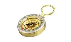 Glow in Dark Brass Compass