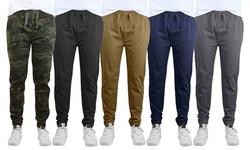 2-Pack Galaxy By Harvic Men's Classic Cotton Stretch Twill Jogger (S-2XL)