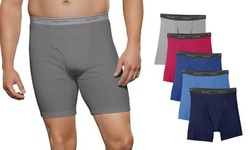 Fruit Of The Loom Men's Tag Free Assorted Colors Boxer Briefs (9 Pack)