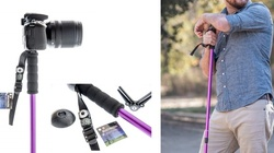 Collapsible Walking/Hiking Stick with Rifle Mount