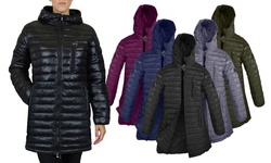 Spire By Galaxy Women's Lightweight Puffer Jacket - Plus Sizes Available