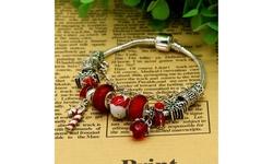 Murano and Swarovski Crystal Christmas Bracelet