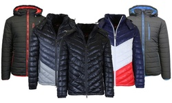 Men's Down Alt Hooded Puffer Winter Jacket (Multiple Styles Available)