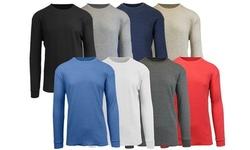 Galaxy By Harvic Men's Waffle-Knit Thermal Shirts (S-5XL)