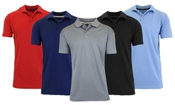 2-Pack Galaxy By Harvic Men's Tagless Dry-Fit Moisture-Wicking Polo Shirt