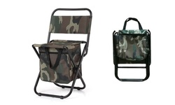 Camo Folding Camping Chair With Storage Pocket