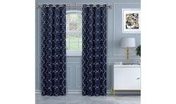 V&V Imperial Trellis Blackout Thermal Grommet Curtain Panel