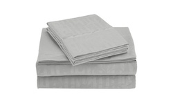 Clearance - Super-Soft Bamboo Embossed Bed Sheet Set (4-Piece)
