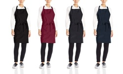 Cotton Bib Apron or Waist Apron With Pockets (2-, 4- or 12-Pack)