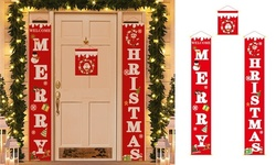 Merry Christmas Porch Banner Christmas Outdoor Decoration For Home Hanging