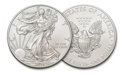 1oz pure silver American Eagle Coin