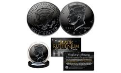 BLACK RUTHENIUM 2018 JFK Kennedy Half Dollar U.S. Coin - Choice of P or D Mint