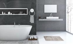 "N'POLAR Chenille Microfiber 23"" x 15"" Non-Slip Water-Absorbent Bath Floor Mat"