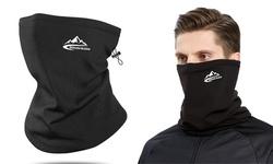 Neck Gaiter Drawstring Bandana Warmer Windproof Mask Fleece Face Mask Scarf