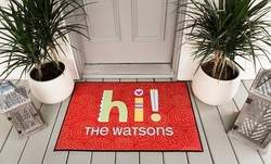 Medium or Large Personalized Color Door Mat from Qualtry (Up to 58% Off)