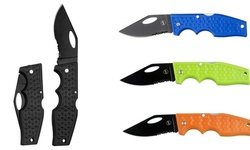 Lockback Pocket Knife with Metal Clip and Stainless Steel Blade- Color Options
