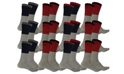 12-Pack Men's Thermal Insulated Heat Retaining Winter Socks
