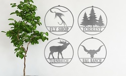 Personalized Great Outdoors Metal Signs at Rusted Orange (Up to 76% Off). Two Options Available.