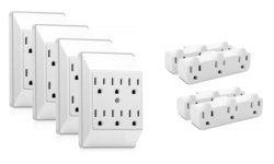 8 Pack Grounded Wall Outlets - 3 & 6 Outlets