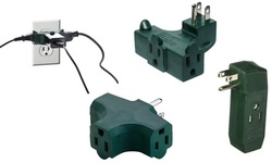 All-Angle T, L, or I Shaped Three Way Outlet Wall Plugs (3-Pack)