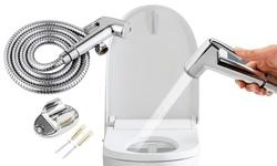 Stainless Steel Handheld Bidet Sprayer Shower Head Toilet Shattaf Hose Kit