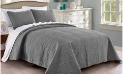 Reversible Oversized Bedspread Coverlet Quilt Set (3-Piece)