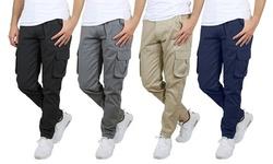2-Pack Men's Cotton-Stretch Cargo Pants