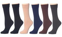 Women's Plush Fleece-Lined Crew Socks (6-Pairs)