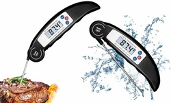 Instant Read Meat Thermometer Digital Waterproof Thermometer with Backlight LCD