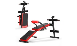 Goplus Multi-Functional Foldable Weight Bench Adjustable Sit-up Board w/ Monitor