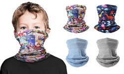 MKII 4Pcs Kids Neck Gaiter Face Mask Face Cover for Children