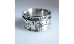 925 Sterling Silver Meditation Dandelion Flower Ring For Women