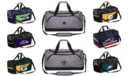 Gray, Two Tone, or Striped NFL Team Duffle Bag