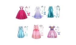 Buscarna Little Girls Princess Costume Halloween Party Birthday Dress Up Cosplay