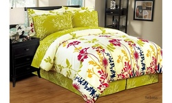 Ultra Soft 6PC/8PC Reversible Bed in a Bag Comforter Set