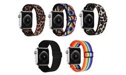 Nylon Elastic Stretch Loop Breathable Weave Band Apple Watch Series 1-6, SE