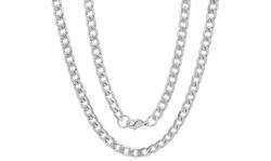 Men's Stainless Steel Diamond Cut Cuban Necklace