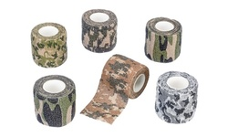"""6Pc Assorted Camouflage Adhesive Free Wraps (2""""x15"""")"""