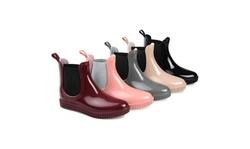 Journee Collection Womens Comfort Foam Drip Rainboot