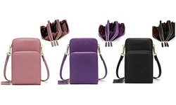 Women Small Crossbody Phone Bag Cellphone Shoulder Bags Card Holder Wallet Purse