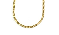 18k Yellow Gold Plated Unisex Curb chains